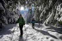 Raquetas de nieve en la Val d'Aran, una nueva forma de prácticar senderismo en invierno